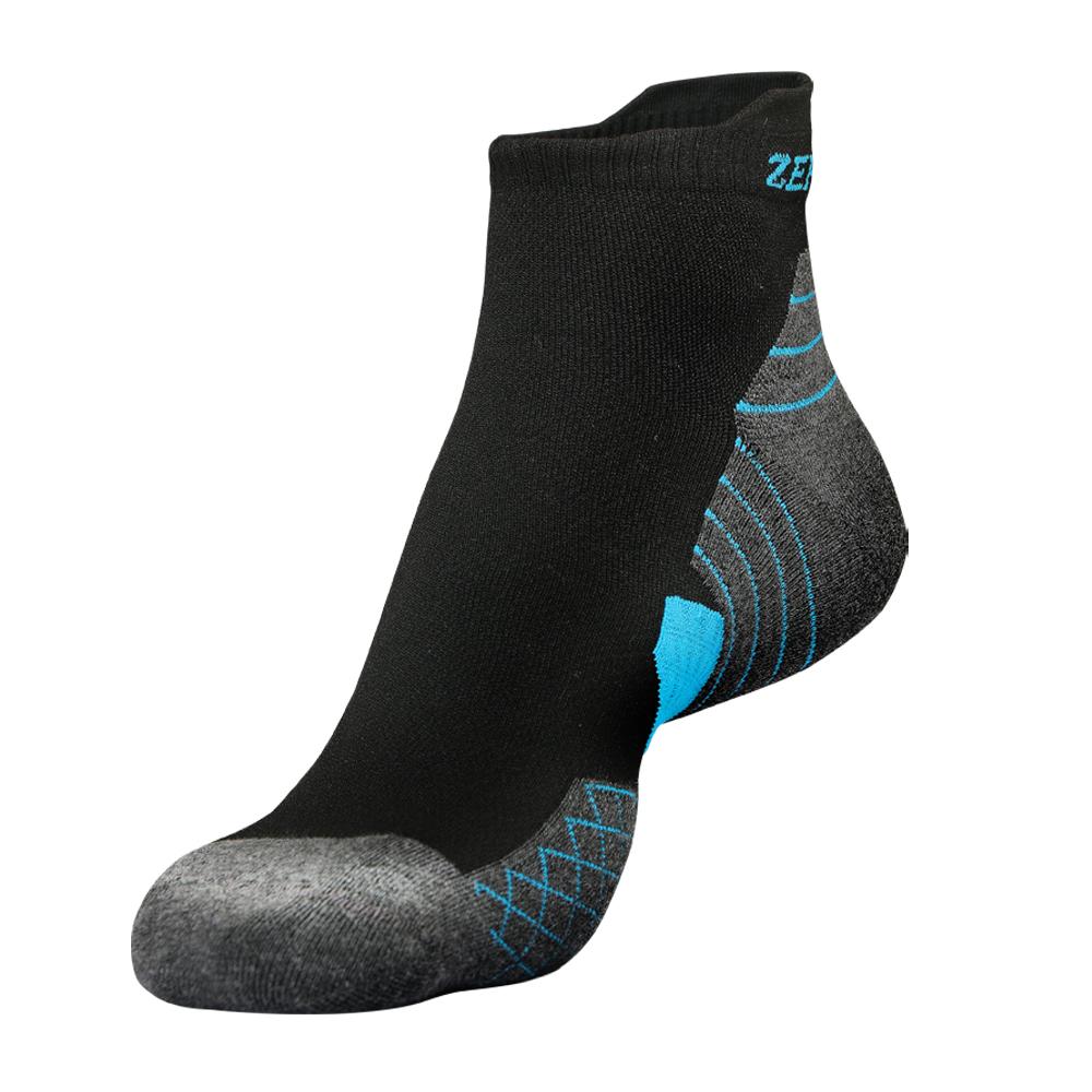 【ZEPRO】男子足弓壓縮抗菌襪-黑灰/藍