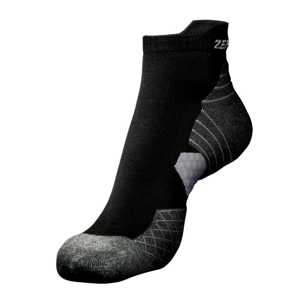 【ZEPRO】男女足弓壓縮抗菌襪-黑灰