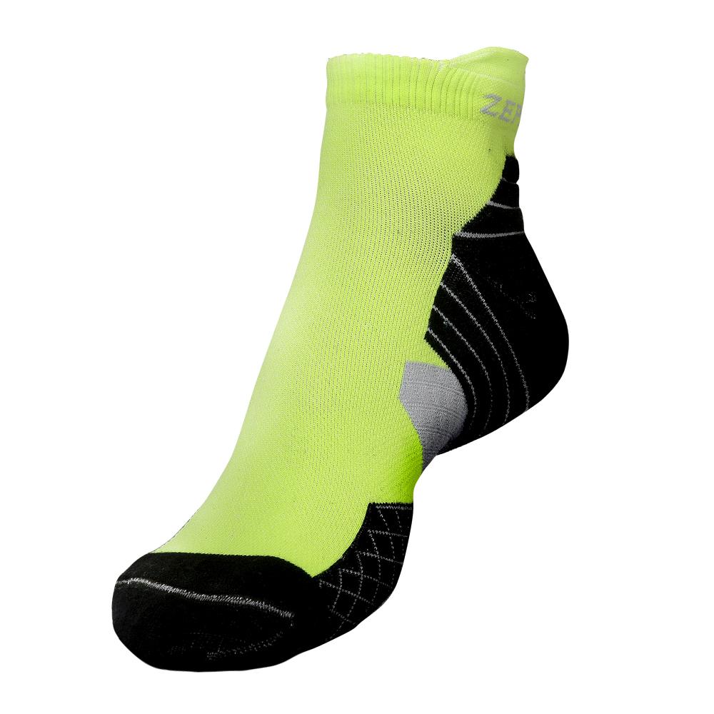 【ZEPRO】男子足弓壓縮抗菌襪-螢光綠/黑