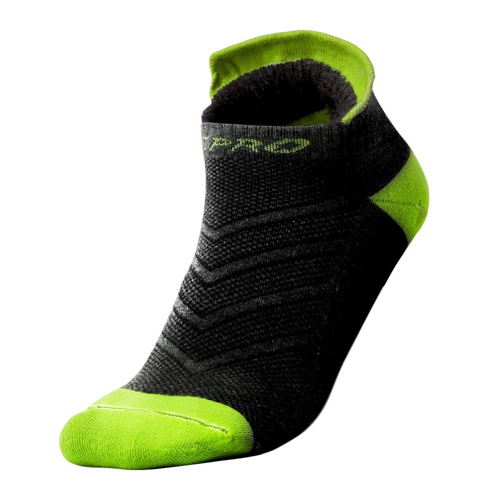 【ZEPRO】男子抗菌止滑運動襪-黑/螢光綠