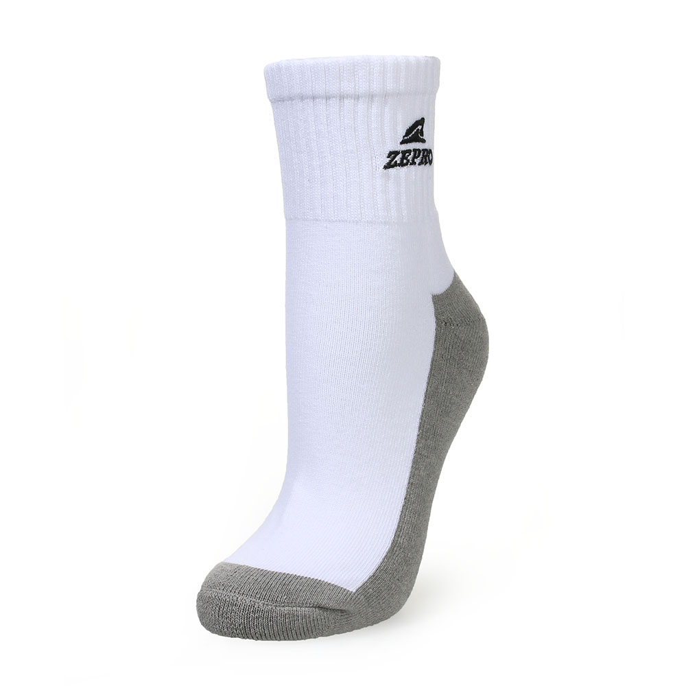 【ZEPRO】男子竹炭運動短襪-白灰