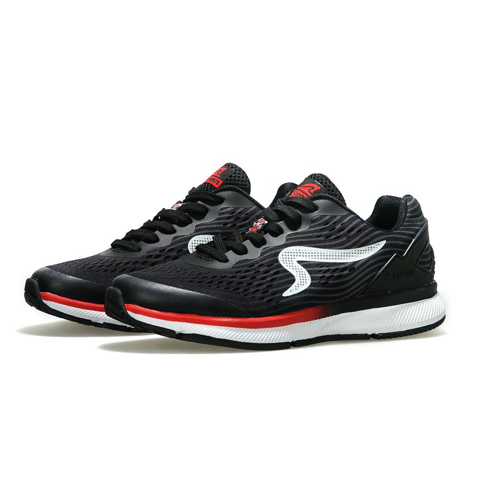【ZEPRO】女子KIRIN系列減震耐磨運動跑鞋-深夜黑