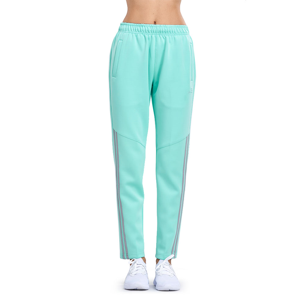 【ZEPRO】女子經典滾邊休閒長褲-湖水綠