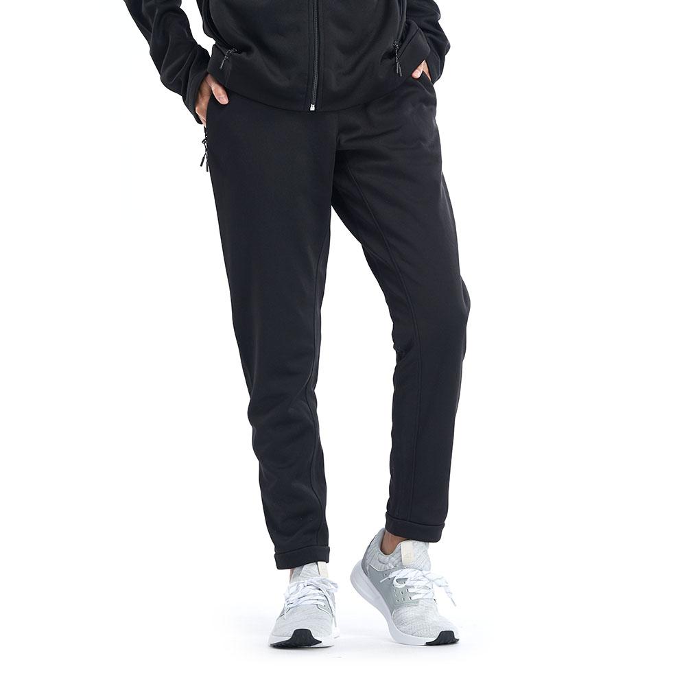 【ZEPRO】女子後側拉鍊休閒長褲-黑