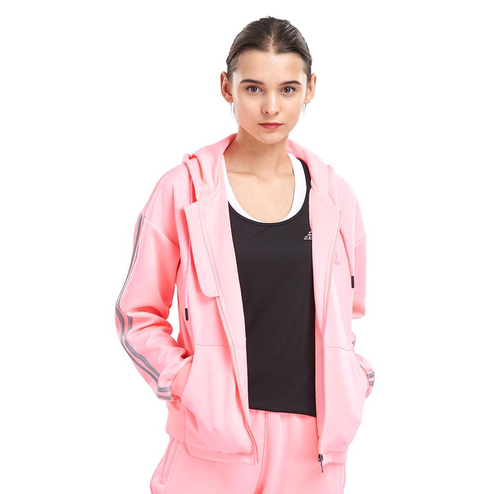 【ZEPRO】女子復古素面滾邊休閒外套-粉色