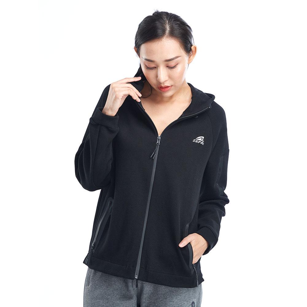 【ZEPRO】女子側邊LOGO休閒外套-黑