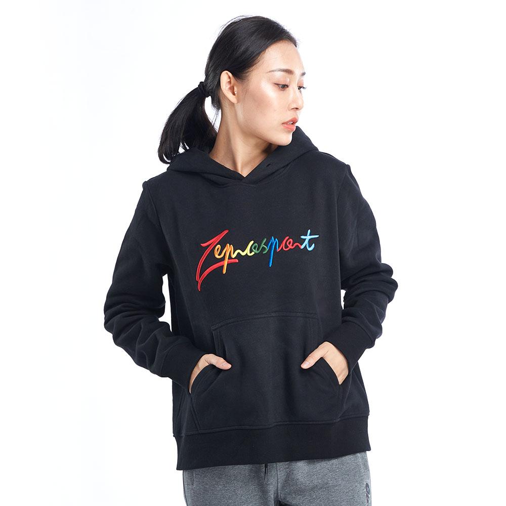 【ZEPRO】女子炫彩休閒連帽T-黑