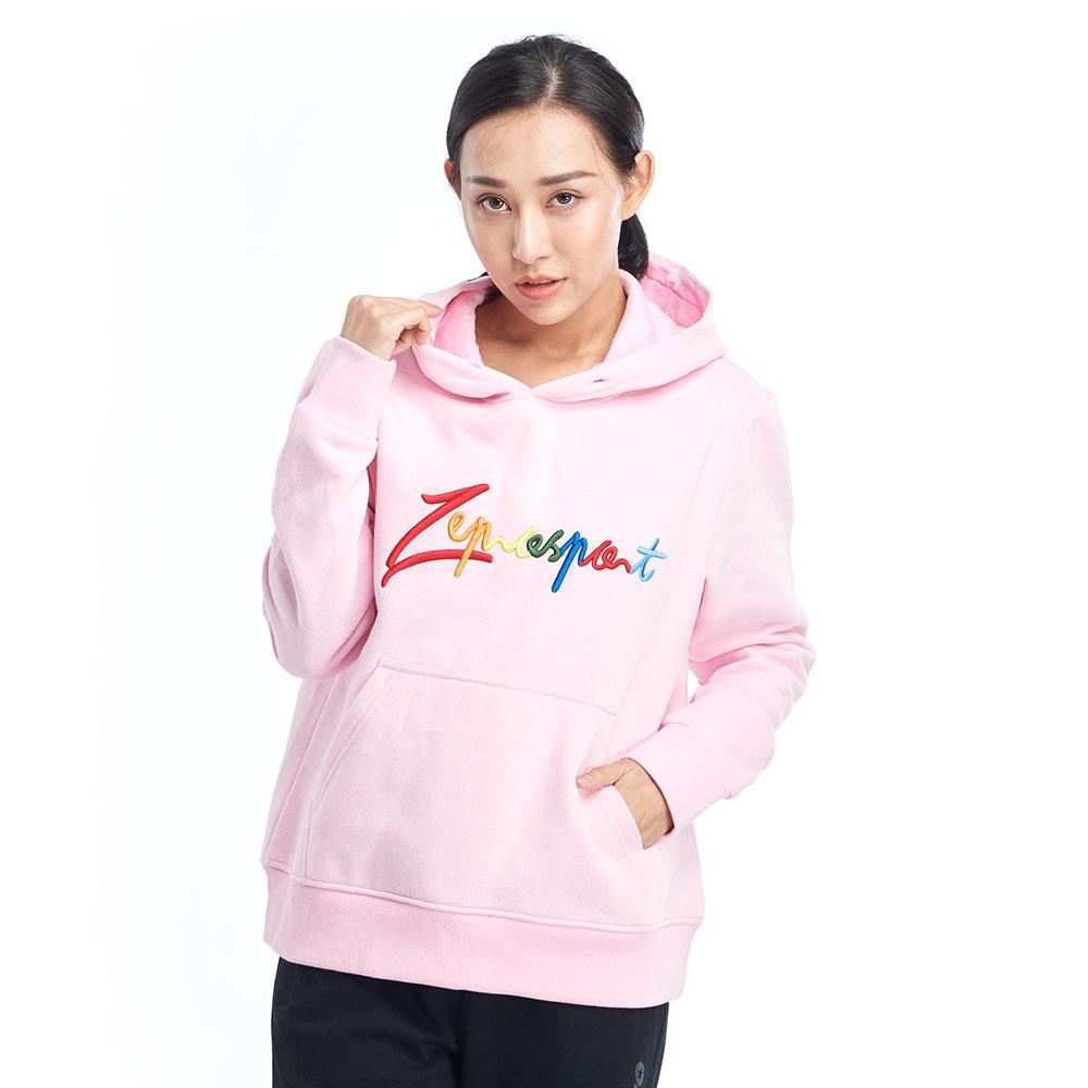 【ZEPRO】女子炫彩休閒連帽T-粉紅