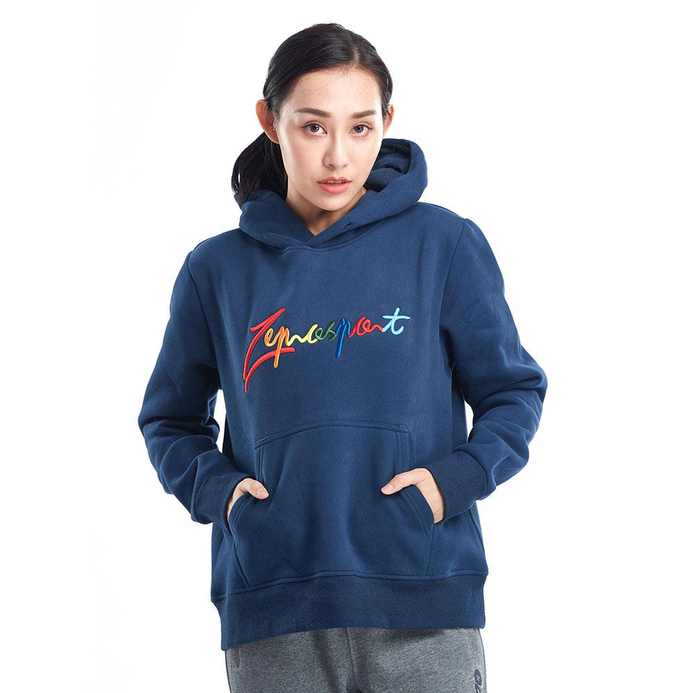 【ZEPRO】女子炫彩休閒連帽T-丈青