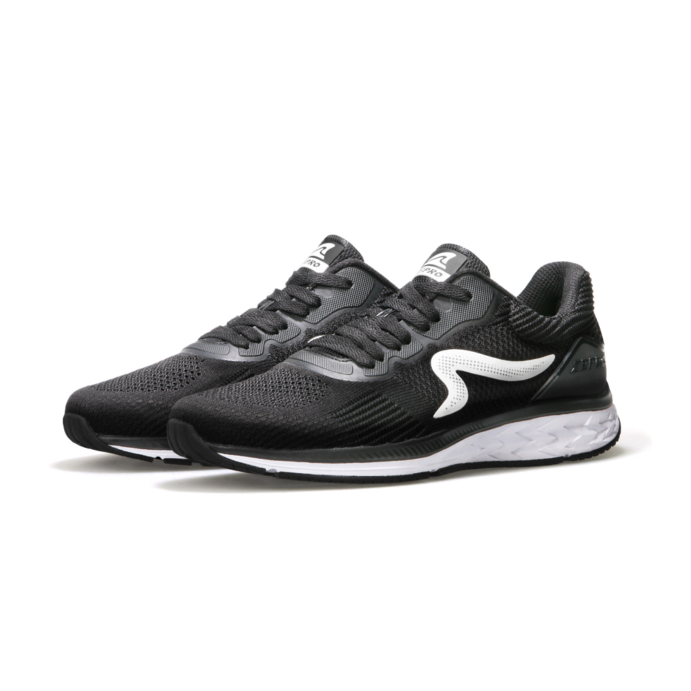 【ZEPRO】女子MOONDRAGON時尚運動跑鞋-經典黑
