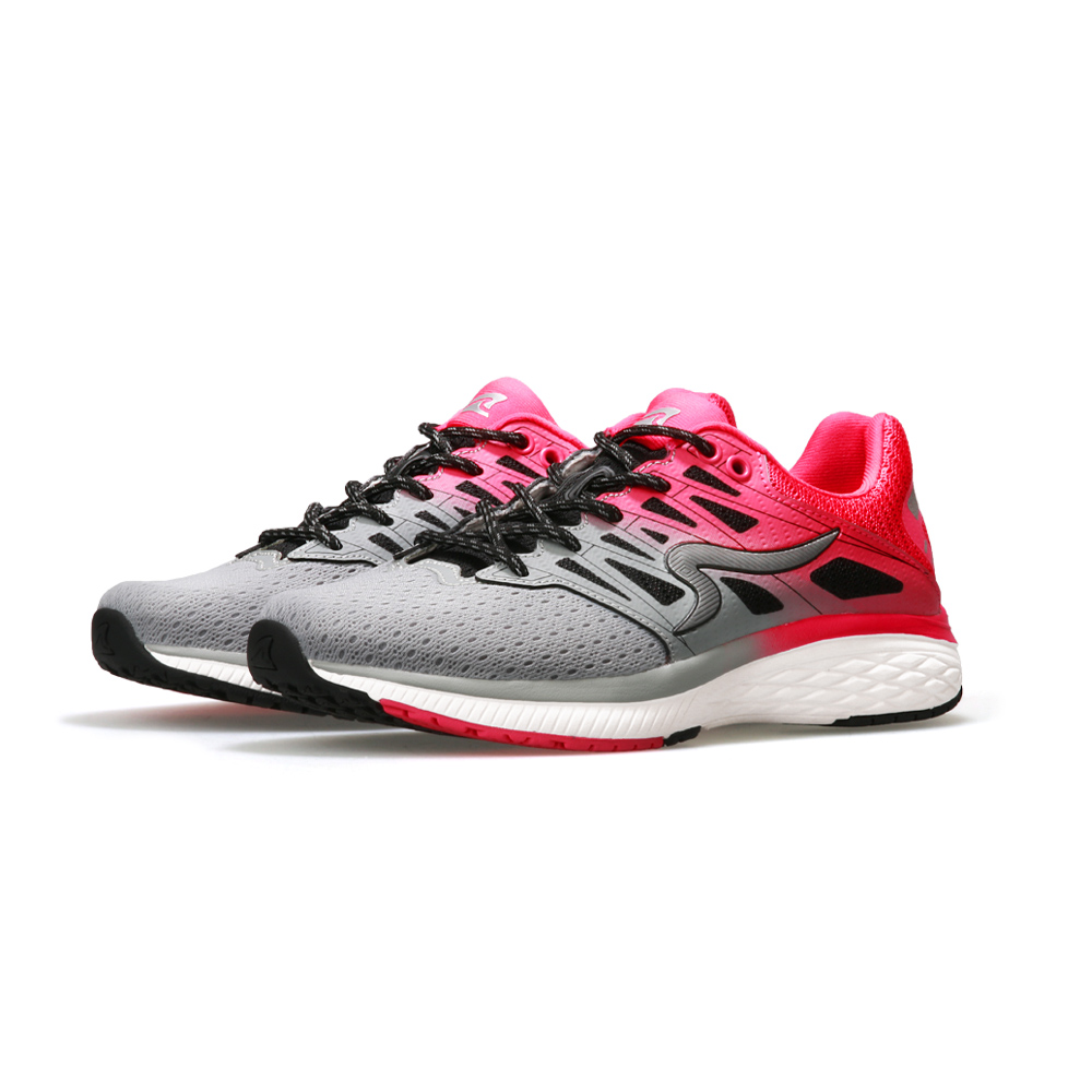 【ZEPRO】女子SHARK鯖鯊系列減震科技慢跑鞋-灰粉