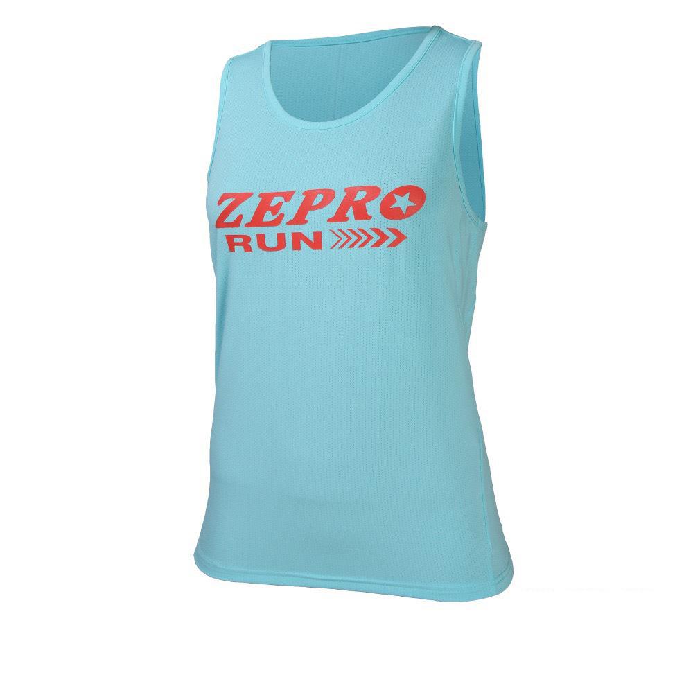 【ZEPRO】女子速乾排汗路跑背心-水藍